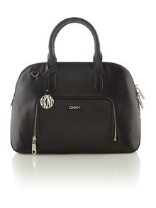 Greenwich black rounded satchel bag