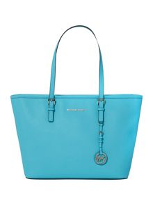 Jetset travel blue tote bag