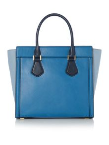 Collette blue winged tote bag