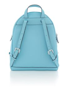 Rhea zip blue small backpack