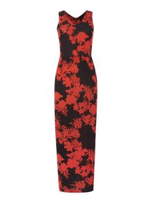 Therapy Silhouette floral stripe maxi dress