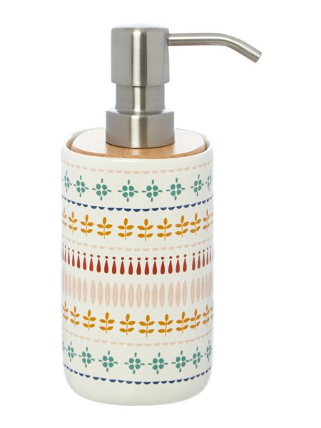 Dickins & Jones Printed Ceramic Soap Dispenser