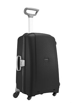 Aeris black 4 wheel hard 68cm medium suitcase