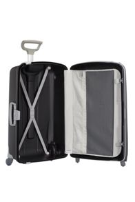 Samsonite Aeris black 4 wheel hard 68cm medium suitcase