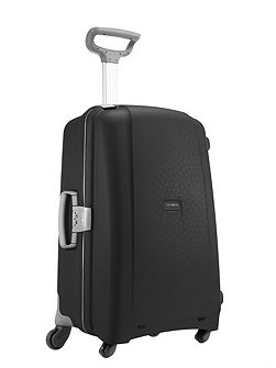 Aeris black 4 wheel hard 75cm large suitcase