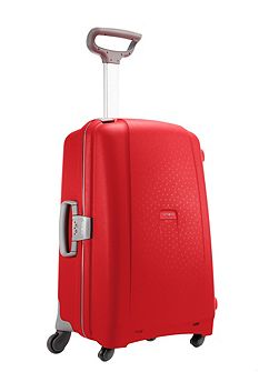 Aeris red 4 wheel hard medium suitcase