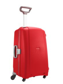 Aeris red 2 wheel hard medium suitcase