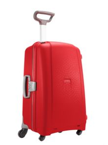 Samsonite Aeris red 4 wheel hard 75cm large suitcase