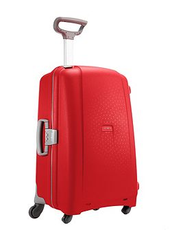 Aeris red 4 wheel hard 75cm large suitcase