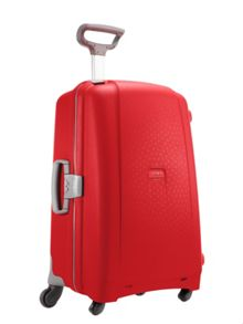 Samsonite Aeris red 4 wheel hard 82cm extra large suitcase