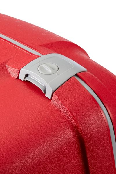 Samsonite Aeris red 4 wheel hard 81cm extra large suitcase