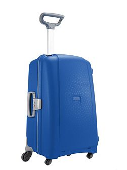 Aeris vivid blue 4 wheel hard medium suitcase