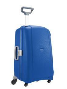 Aeris vivid blue 2 wheel hard medium suitcase
