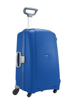 Aeris vivid blue 4 wheel hard large suitcase