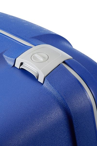 Samsonite Aeris vivid blue 4 wheel hard large suitcase