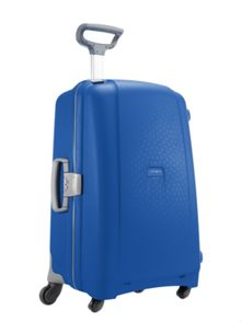 Aeris vivid blue 2 wheel hard large suitcase