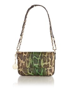 Fashion multi-coloured snake small cross body
