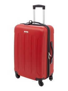Linea Dakota red 4 wheel hard medium case