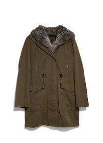 Military hooded coat