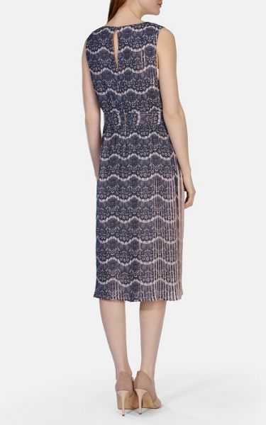 Karen Millen Printed pleated lace collection dress