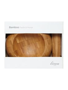 Linea Bamboo mortar and pestle