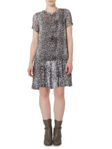 Gray & Willow Jakki scratch print double layered dress