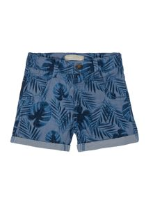 Boys Palm Tree Printed Shorts