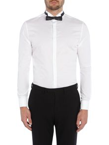 Kenneth Cole Colton poplin dinner shirt with wing collar