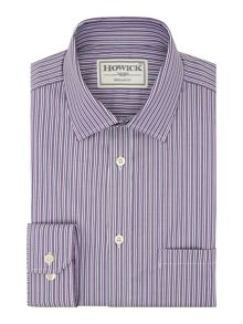 Howick Tailored Cortland Wide And Thin Stipe Shirt