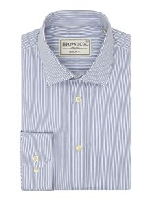 Howick Tailored Brownfield Double Stripe Shirt
