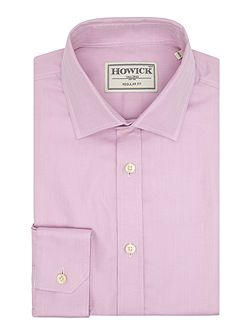 Men's Howick Tailored Covington Plain Herringbone Shirt