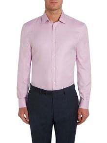 Howick Tailored Covington Plain Herringbone Shirt