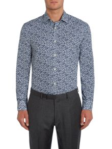 Howick Tailored Bruxton Leaf Print Shirt