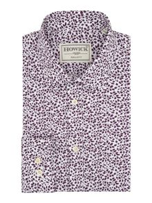 Howick Tailored Durham Leaf Print Shirt
