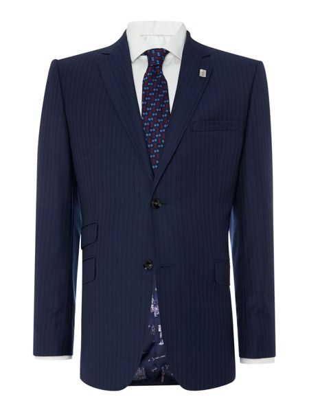 Ted Baker Stripe Classic Fit Suit Jacket