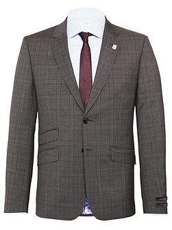 Check Slim Fit Suit Jacket