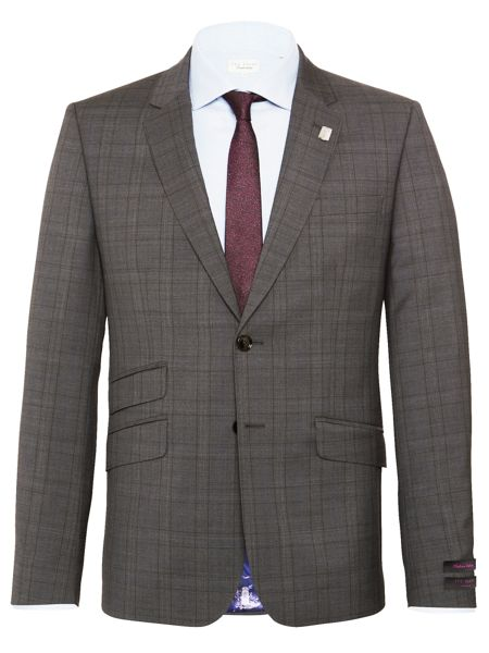 Ted Baker Check Slim Fit Suit Jacket