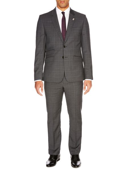 Ted Baker Check Slim Fit Suit Trousers