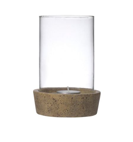 Gray & Willow Candle holder with ceramic base, large