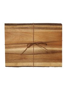 Highlands Wooden Placemat Set Of 2