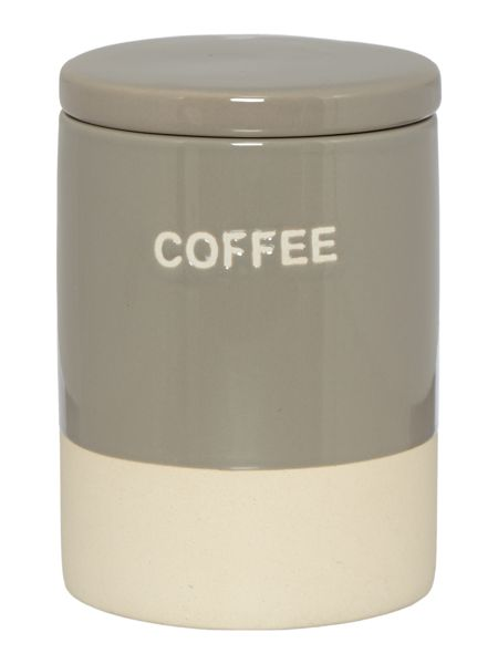 Gray & Willow Glazed ceramic coffee storage