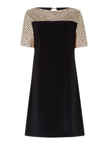 Sequin panel sixties dress