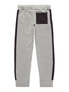 Girls skinny contrast side & pocket joggers