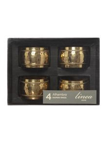 Linea Alhambra Napkin Ring Set Of 4