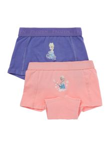 name it Girls 2 Pack Frozen Boxer Briefs