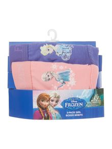 Girls 2 Pack Frozen Boxer Briefs