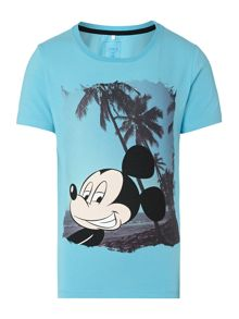 Boys Mickey Mouse With Palm Trees Tee