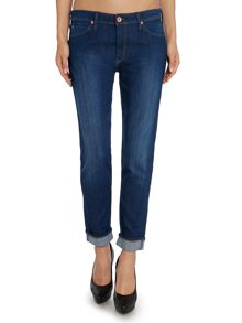 Lee Sallie slim boyfriend jean in midnight blue