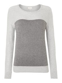 Herringbone Crew Neck Jumper