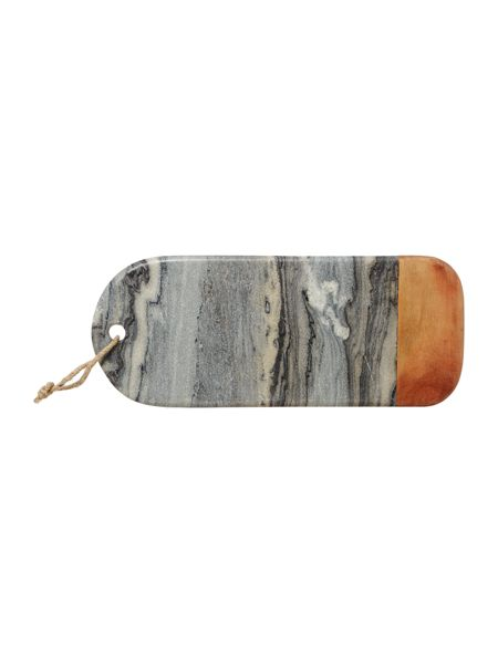 Gray & Willow Dark marble and wood cheese board